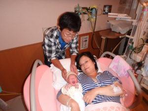 家族立会分娩のイメージ