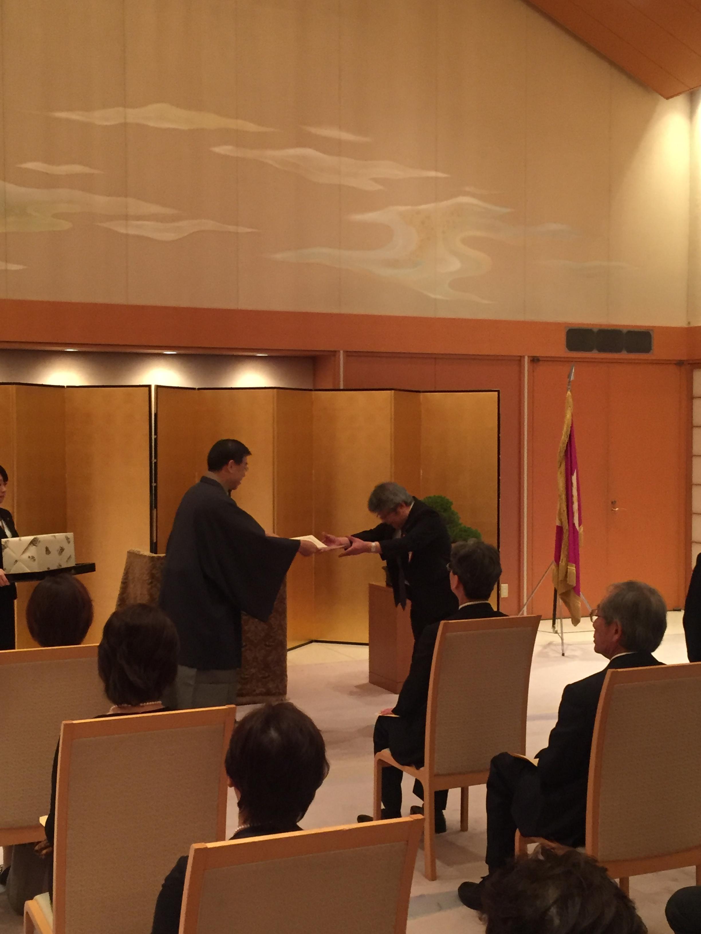 京都府救急医療功労者授賞式の様子1